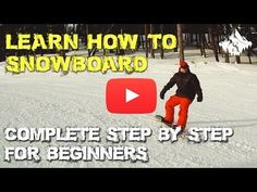 Complete Learn How to Snowboard Video for Beginners - Snowboard Lessons: Beginner to advanced skills progression at Adventure Ski & Snowboard School – - Snowboard Goggles, Ski And Snowboard, Snowboarding Tips For Beginners, Snowboarding Outfit, Videos Funny, Skiing, Learning, Youtube, School