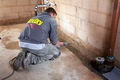 Feeling damp and drippy? If your basement walls are clammy, a French drain system — also called a footing drain — can banish that boggy feeling. Waterproofing Basement Walls, Leaky Basement, Basement House, Basement Remodeling, Basement Ideas, Basement Repair, Basement Flooring, Wet Basement Solutions, French Drain System