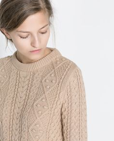 Image 5 of CABLE-KNIT SWEATER from Zara
