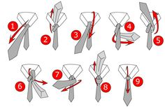 A classic knot is the Full Windsor. It looks great, it's symmetrical and it suits almost all occasions and looks more business style than the Half Windsor knot. This is the one to use when you go to the office or if you have a thin fabric tie. Tie A Tie Easy, Windsor Tie Knot, Double Windsor, Tie A Necktie, Tuxedo Vest, Tie Knots, Step By Step Instructions, Just In Case, Tyler Johnson