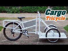 Smart SME จักรยาน3ล้อ สั่งทำ Cargo Tricycle ราคา 19,500 บาท (2/2) - YouTube Snow Cones, Tricycle, Vehicles, Trailers, Bicycles, Vehicle