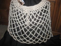 Poncho Skirt Crochet Hand Spun Navajo Plied Yarn by AlpacaShack