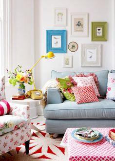 Bello salón colorido de verano | Beautiful summer colourful living room · ChicDecó