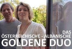 DAS ÖSTERREICHISCHE - ALBANISCHE GOLDENE DUO: Gazmend Freitag, Sonjuschka, Wien, 2015. PHOTO: KETI BERISHA