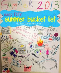 I love the idea of making a bucket list on a poster board to keep out and keep track of easily.