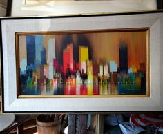 """30"""" x 18"""" James Sherman Abstract Oil on Canvas $85 #mercantile_m #andersonville"""