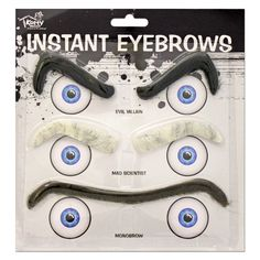 This 3 piece instant eyebrow set will be a hit at your next fancy dress party. Evil Villains, Costume Accessories, Dress Party, Fancy Dress, 3 Piece, Eyebrows, Third, Masks, Campaign