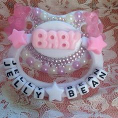 Every single baby jelly bean should have this pacifier! Ddlg Pacifier, Bling Pacifier, Binky, Daddy's Little Girl Quotes, Daddy Dom Little Girl, Little Doll, Little My, Daddy King, Ddlg Outfits