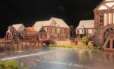 Renaissance Miniatures Products:  Medieval Village Series.  laser wood cuts