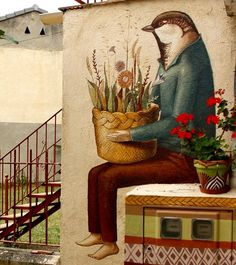 by Alegria del Prado, Mexico (LP), street art Murals Street Art, Graffiti Art, Mural Art, Prado, Urbane Kunst, Street Gallery, Best Street Art, Outdoor Art, Land Art