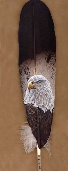 American Eagles Painted on Feathers