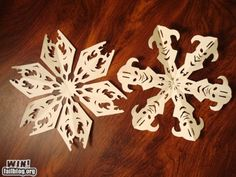 Skyrim Logo and Dragonborn Paper Snowflakes - No instructions, though :(