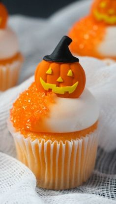 Cupcakes citrouille Halloween