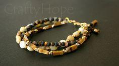 Fall Stone Bracelet by CraftyHope on Etsy
