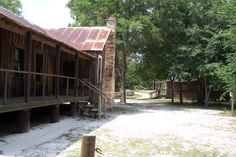 An old Florida cracker village at Silver River State Park