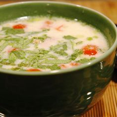 "Tom Ka Gai (Coconut Chicken Soup) | ""The quintessential Thai soup."""