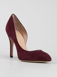 2d38b103b80 Bordeaux red suede  The Lady is a Vamp  pumps from Charlotte Olympia  featuring a