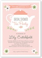 Chalkboard teapot chic floral personalized bridal shower tea party charming teapot bridal shower invitation filmwisefo Gallery