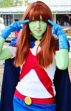 #Cosplay #Martian: M'gann M'orzz aka Miss Martian - Young Justice