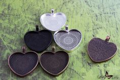 1 Inch Heart Photo Pendant Tray Blanks. Are you looking for the glass cabochons…