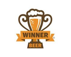 Beer glass as a winning cup. Logo Inspiration, Logos, Logo Branding, Beer Logo Design, Identity Design, Corporate Identity, Clever Logo, Logo Color, Visual Communication