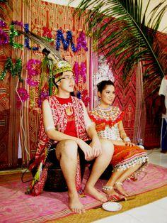 Iban wedding. The Ibans are native people of Borneo. Sarawak, Malaysia.