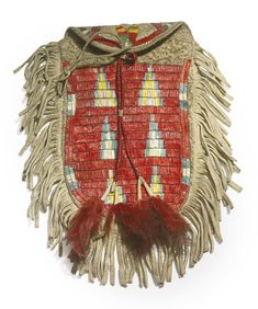 Sioux Quilled and Fringed Hide Pouch, Central Plains | lot | Sotheby's
