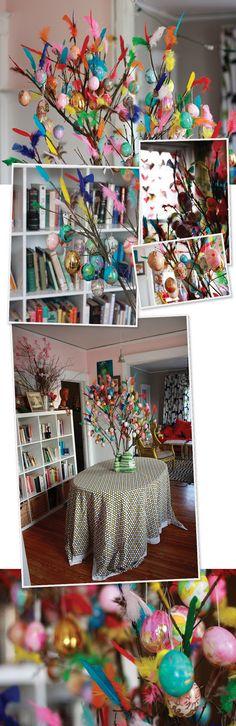 Swedish Easter Tree, Aunt Peaches