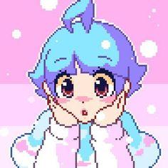 Anime Pixel Art, Anime Art, Arte 8 Bits, Pixel Art Background, Minecraft Pixel Art, Minecraft Buildings, Pixel Drawing, 8 Bit Art, Pix Art