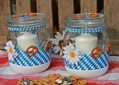 Traditionelles Oktoberfest Windlicht für die Party von Deko-TU-Shop auf DaWanda.com