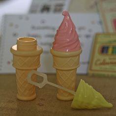 Children's Blowing Bubbles In Ice Cream Cones