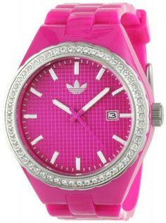 Relógio Adidas Women's ADH2071 Pink Cambridge Analog Stones Watch #Relogios #Adidas