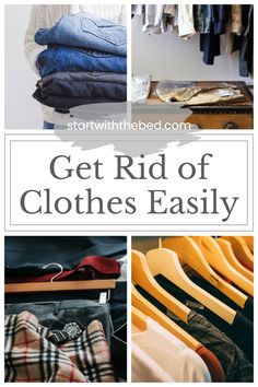 With these simple steps, you will no longer wonder how to get rid of clothes. You will know how to declutter your closet, and what to do with your old items. Garage Organization Tips, Kitchen Organization, Bedroom Organization, Closet Hacks, Home Management, Organizing Your Home, Staying Organized, Organizers