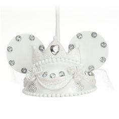 Minnie Mouse Bride Ear Hat Ornament - Here comes the bride, Item No. 7509055880091P, $22.95