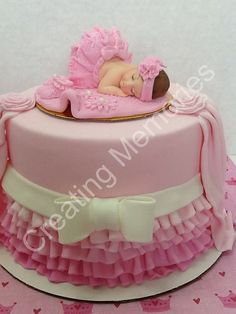 Baby Girl and Pearls/Edible Cake Toppers Made of por anafeke
