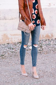 3 ways to wear a leather jacket this spring on TRF!!