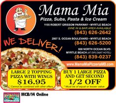 Mama Mia Pizza Myrtle Beach Coupon