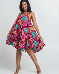 Here at Grass-fields we have an awesome range of African dress designs. Whether you're after an African print maxi or midi dress, we've got something for you. African Wear Dresses, Ankara Dress Styles, Trendy Ankara Styles, African Fashion Ankara, Latest African Fashion Dresses, African Print Fashion, African Attire, Nigerian Fashion, Ankara Mode