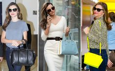 Top 9 Celebrity Bags with Top Bags Brands Use it Fossil Handbags, Handbags Michael Kors, Louis Vuitton Handbags, Miranda Kerr, Crochet Handbags, Burberry Handbags, Wallets For Women, Fashion Handbags, Latest Fashion Trends