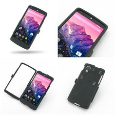 PDair Aluminum Metal Case for LG Google Nexus 5 D820 D821 - Open Screen Design (Black)