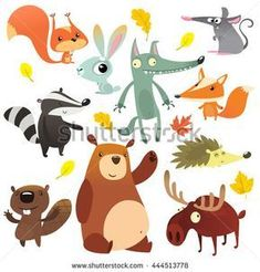 Find Cartoon Forest Animal Characters Wild Cartoon stock images in HD and millions of other royalty-free stock photos, illustrations and vectors in the Shutterstock collection. Wolf Illustration, Character Illustration, Cartoon Kunst, Cartoon Art, Cartoon Characters, Bear Cartoon, Cartoon Drawings Of Animals, Drawing Cartoons, Design Poster