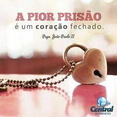 """@centralvazamentos """"A pior prisão é um coração fechado."""" Papa João PauloII Bom dia!  Tags: #CentralVazamentos #Sustentabilidade #MeioAmbiente #UsoConscienteDaÁgua #FaçaSuaParte #EconomizeÁgua #MenosÉMais #Quotes #Frases #reflexão #pensamentos #Reflexões #coração #papa #papajoaopauloii by piauishopping http://ift.tt/1sxtR5H"""