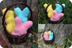 DIY Peep Stuffie: Doable, but not awesome.  This project was pretty straighforward, but the finished product, no matter how experienced you are, turns out wonky.  It's still recognizable, but pretty ugly.