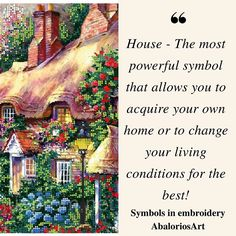 Symbols in embroidery  #House - The most powerful symbol that allows you to acquire your own home or to change your living conditions for the best! ---------------------------------  #abaloriosart #craft #home #crafty #artesania #bordado #abalorios #embroidery #beads #beadwork #handmade #picture #pictureoftheday #cute #beautiful #love #art #style #color  #crossstitch #symbols #tips #advice #ideas #justsaying #thoughts #design #nature