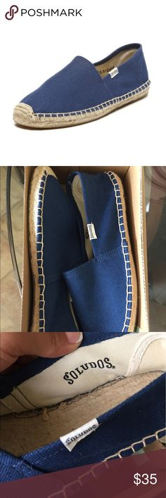 00793ed03669e Shop Women s Soludos Blue size Various Espadrilles at a discounted price at  Poshmark. Description  Brand new navy color. With box no lids.