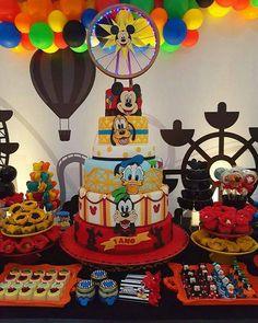 Decoração da Turma do Mickey: mais de 50 ideias – Inspire sua Festa ®
