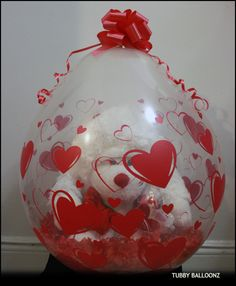 Happy Anniversary 18inch Heart Printed Stuffed Balloon!  www.Tubbyballoonz.com