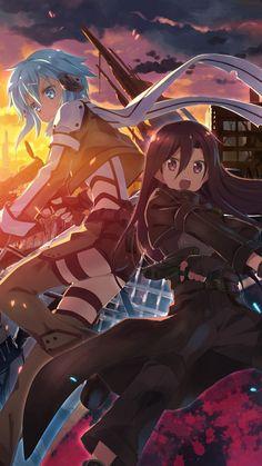 Sinon & Kirito   Sword Art Online
