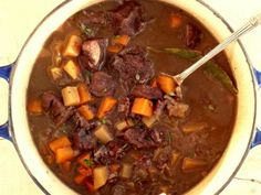 Low FODMAP Beef and Red Wine Casserole