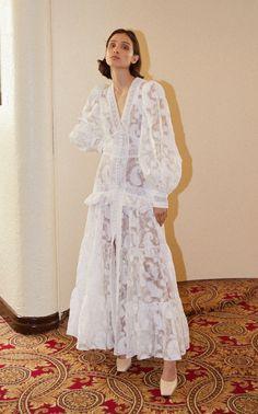 Suffield Ruffled Lace Long Sleeve Maxi Dress by ACLER for Preorder on Moda Operandi Long Sleeve Midi Dress, Maxi Dress With Sleeves, Dress Up, High Waisted Flares, Midi Shirt Dress, Mode Hijab, Asymmetrical Dress, Ideias Fashion, Marie